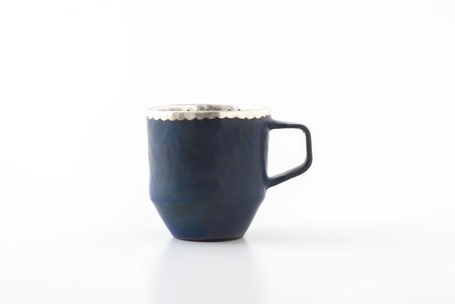 stacking mug:銀縁波(01-1) / holk store × 中囿義光