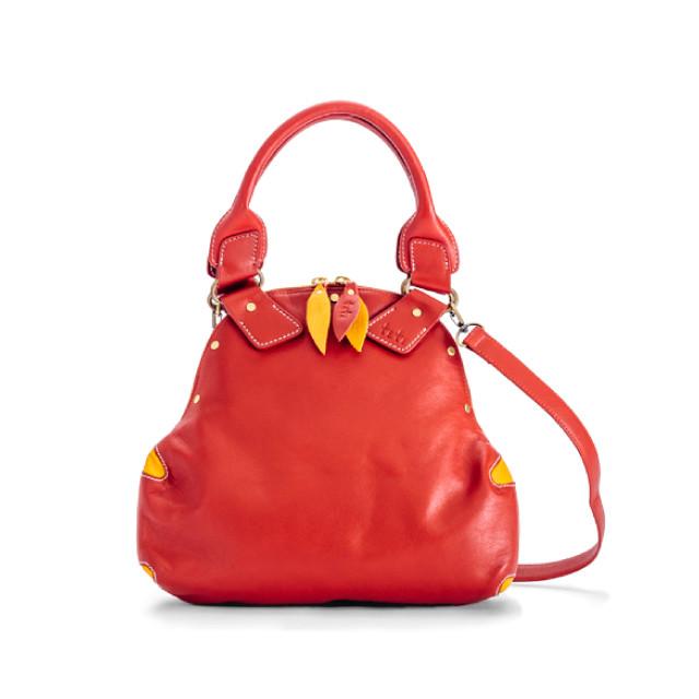 【洋梨ショルダー / レッド】お出かけにデートに最適なバッグ