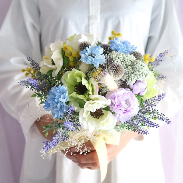 weddingbouquet  3点set  ウェディングブーケ ドライフラワー 結婚式