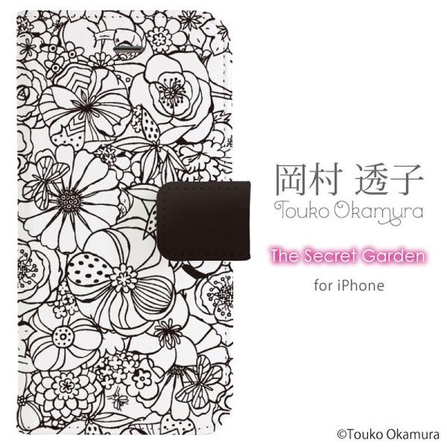 【手帳型】【iPhoneX/8対応】The Secret Garden/岡村透子