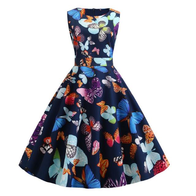バラフライ ノースリーブ ドレス【R0574】