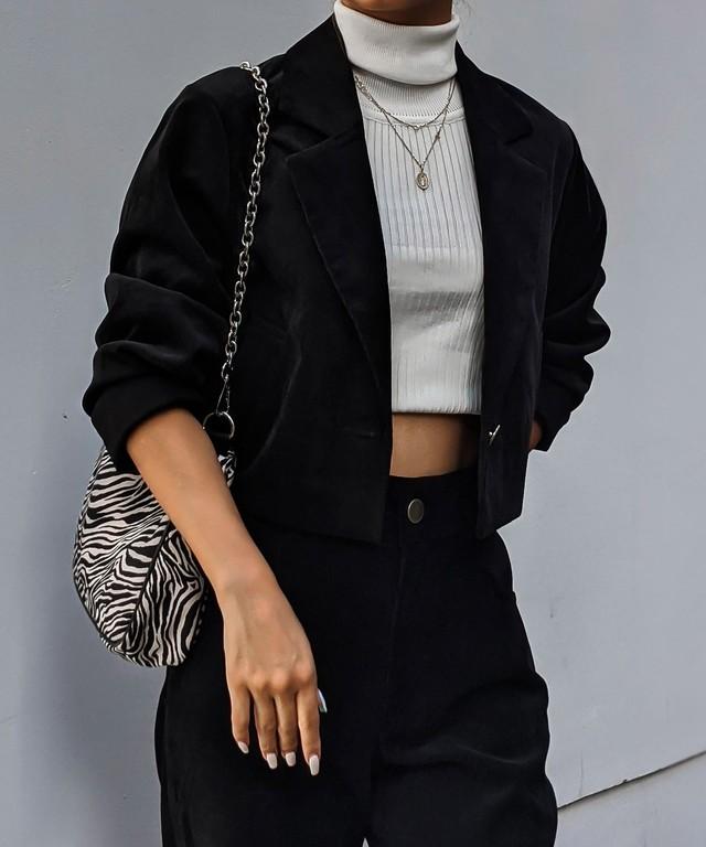 Corduroy minimal jacket