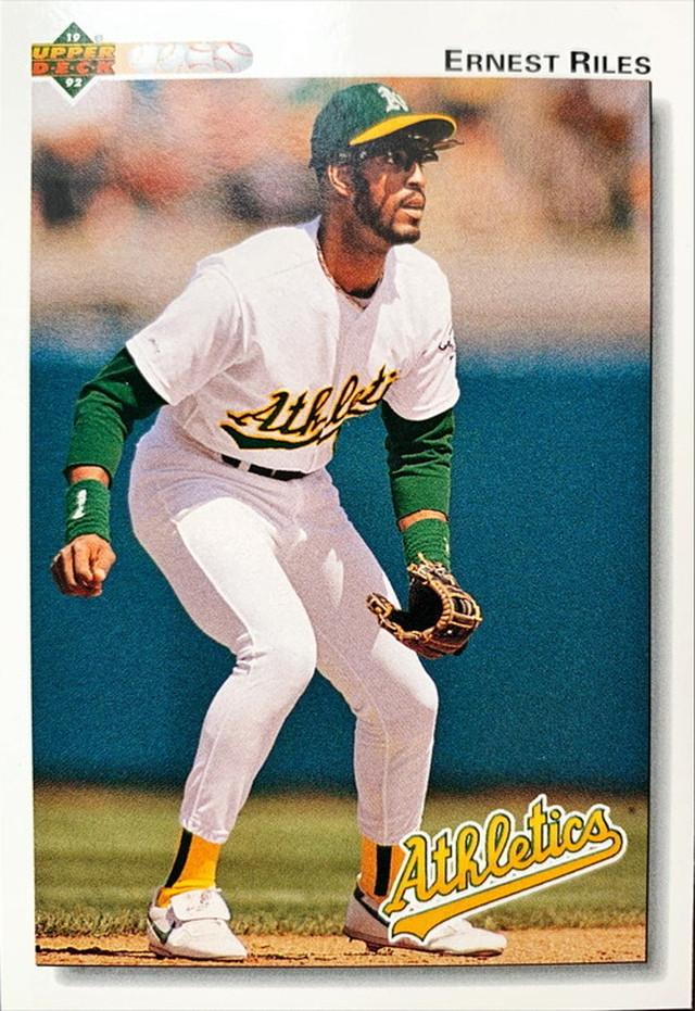MLBカード 92UPPERDECK Ernest Riles #494 ATHLETICS