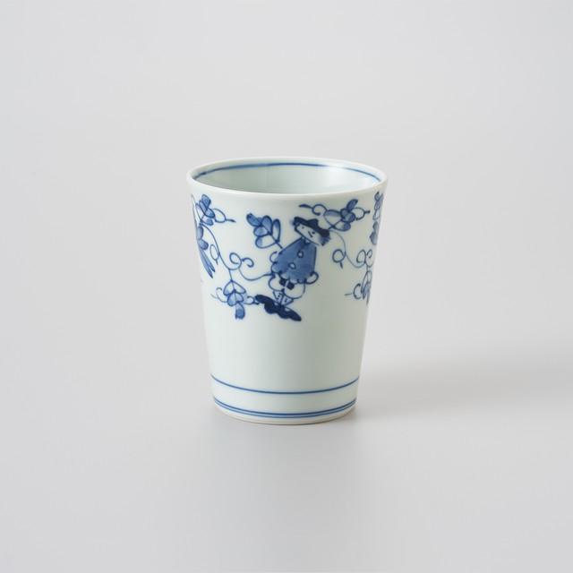 【青花】唐草異人 ミルクカップ(大)