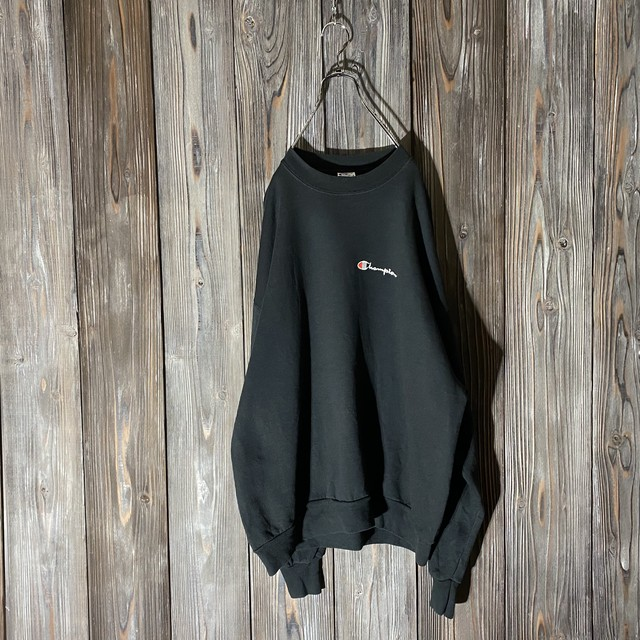 [Champion]one point black sweat