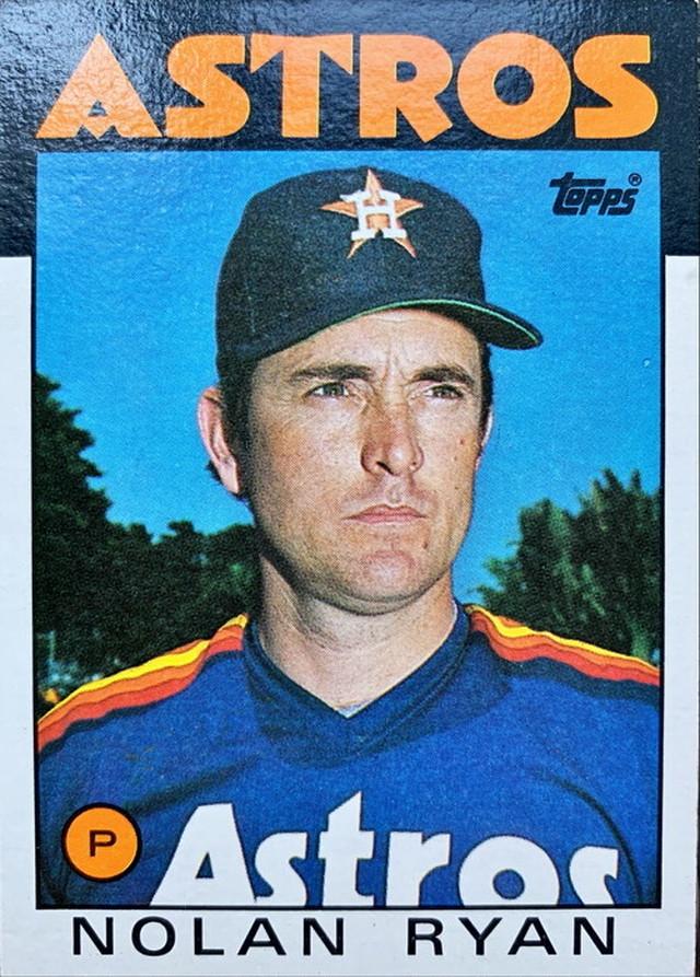 MLBカード 86TOPPS Nolan Ryan #100 ASTROS