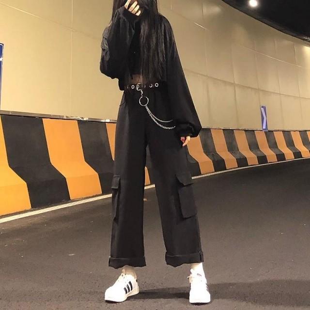 【ボトムス】ファッション無地カジュアルストリート系バンツ27941671