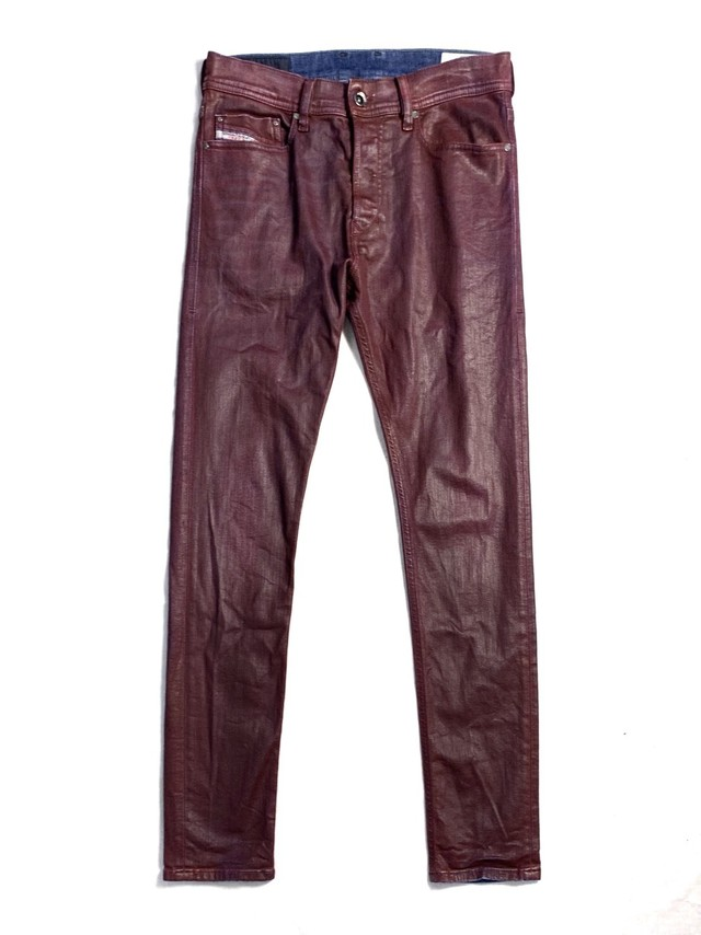 DIESEL COATING DENIM TROUSERS