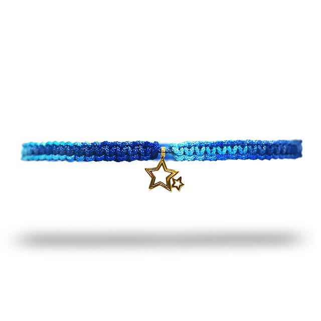 【無料ギフト包装/送料無料/限定】K18 Gold Indian Stella Anklet Ice×SkyBlue【品番 20S2004】