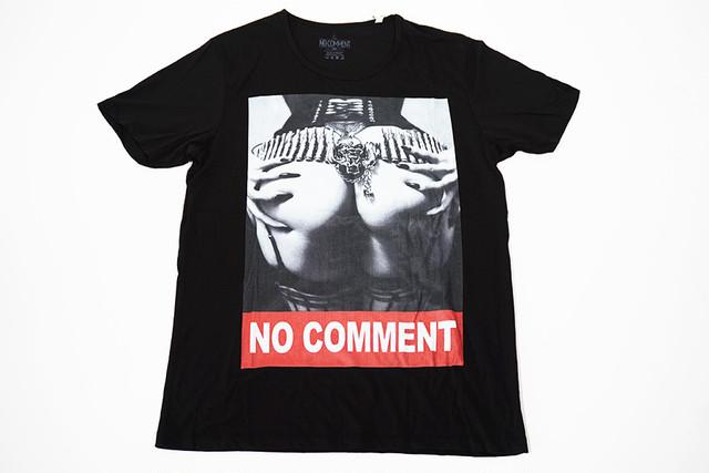 【NO COMMENT】デザインTシャツ【ブラック】