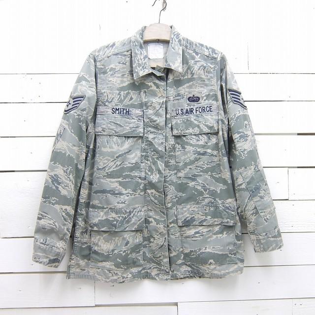 2007's US AIR FORCE デジタルタイガーカモ ABUジャケット ミリタリー カモフラージュ 迷彩 USAF エアフォース レディース XLサイズ相当