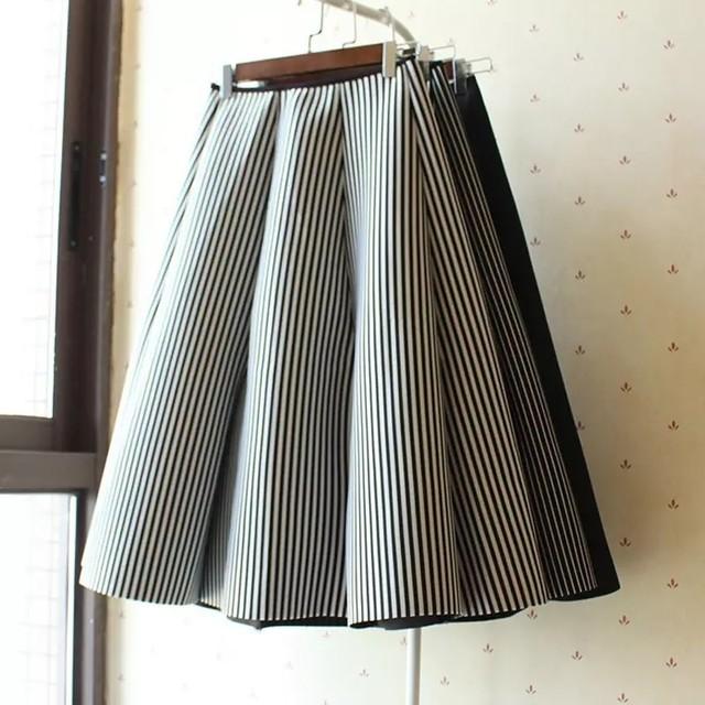 3カラー♡ボンディング スカート / フレアスカート 膝下 エレガント
