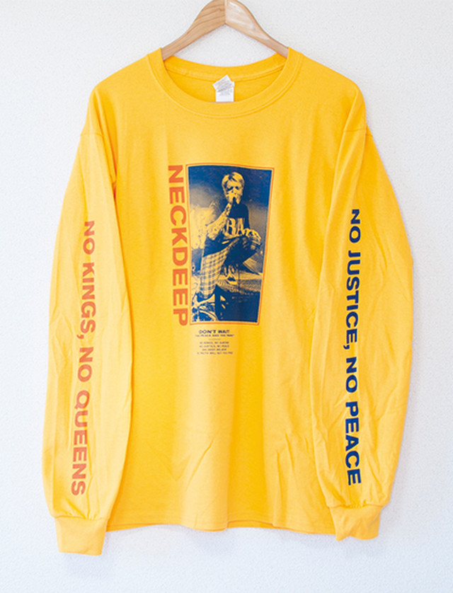 ※Restock【NECK DEEP】Ben Don't Wait Long Sleeve (Gold)