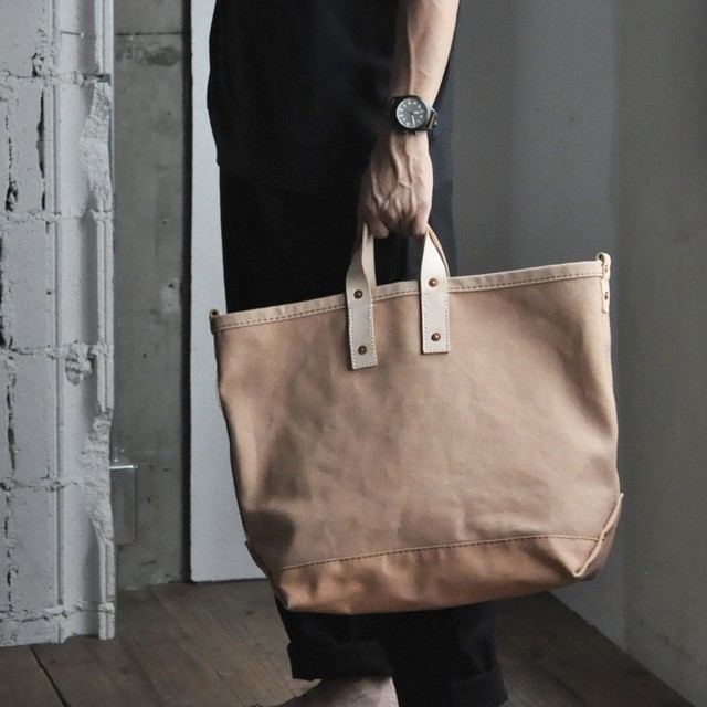 P.T WORKS&DESIGN -TOOL CLASSIC TOTE (DYED) sizeM-