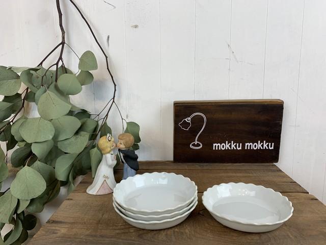 No.i124 白いお皿 / 古道具