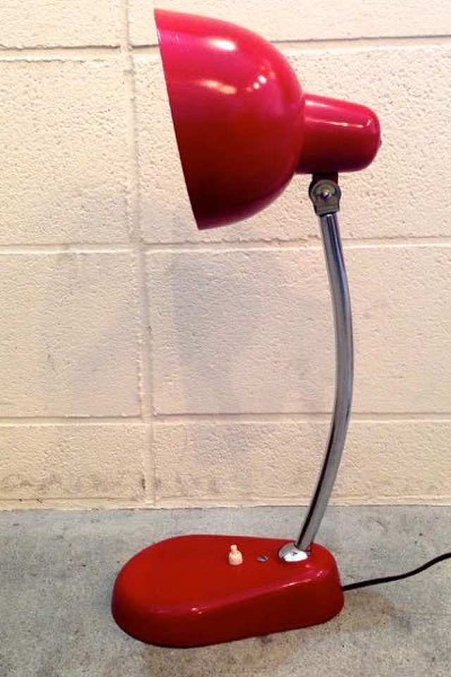 Vintage Italian Design Red Table Lamp '70s
