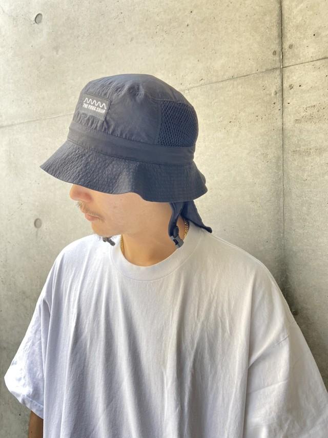 【21SS】THE PARK SHOP(ザ・パークショップ)WATERBOY HAT (ADULTS)black ハット 帽子 大人
