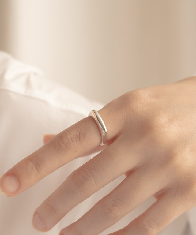 Flat Square Ring[Silver925]