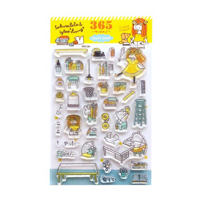 sakuralala クリアスタンプ -Craft Shop- 365047