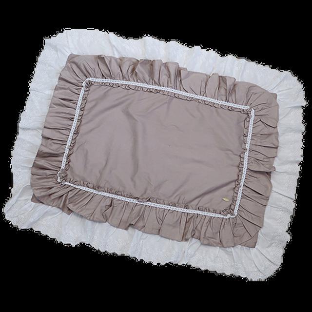 Double frill pillow case / ダブルフリル枕カバー