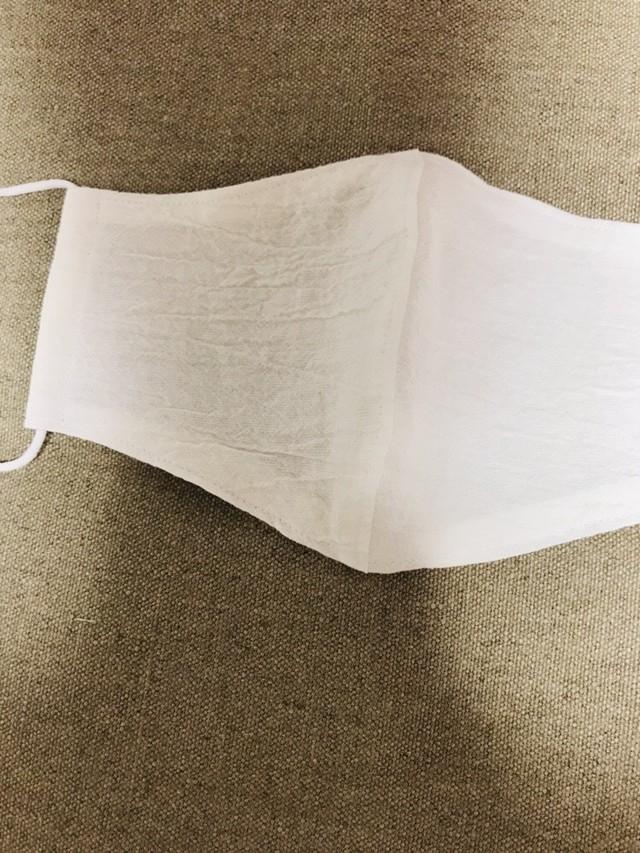 接触涼感 立体マスク2重構造 追撚ワッシャー(cotton)×遠州ガーゼ