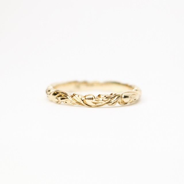 PRINCESS SCROLL RING YG