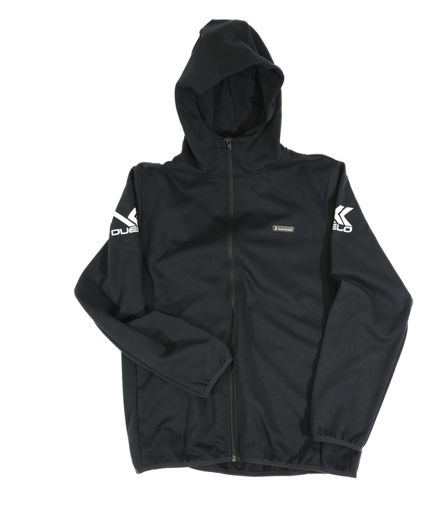 20010 Hood zip sweat top BLK