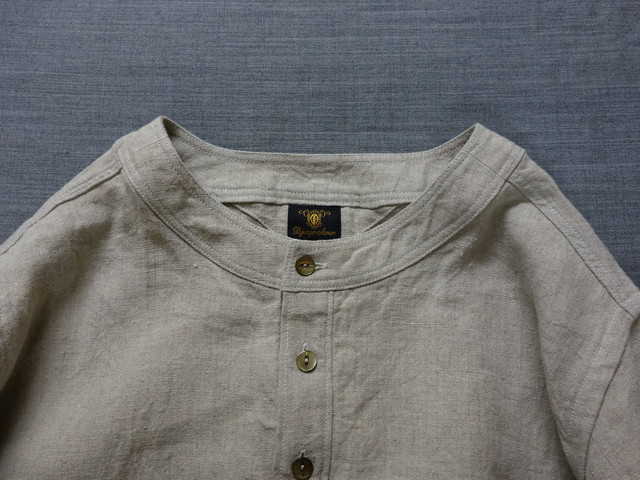 antiqued german linen shirt Ⅱ / ecru