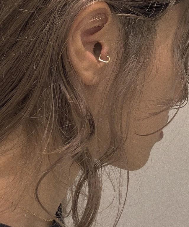 HEART Tragus body jewelry 16G/K18YG #LJ18024P ハート トラガス ボディピアス