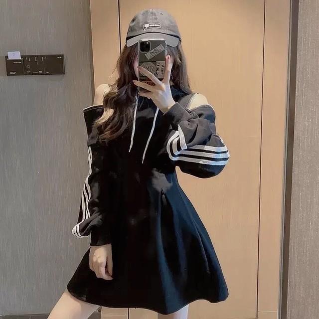 sporty shoulder cut dress 2color
