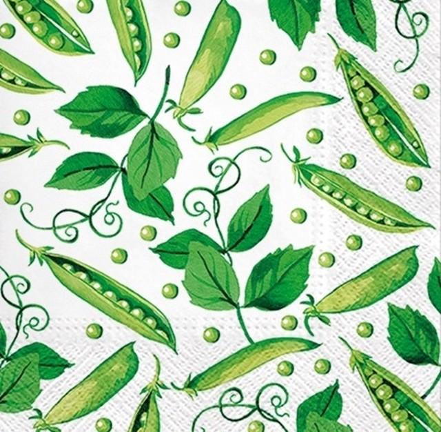 12月下旬入荷|2020春夏【PAW】バラ売り2枚 ランチサイズ ペーパーナプキン FRESH GREEN PEA ホワイト