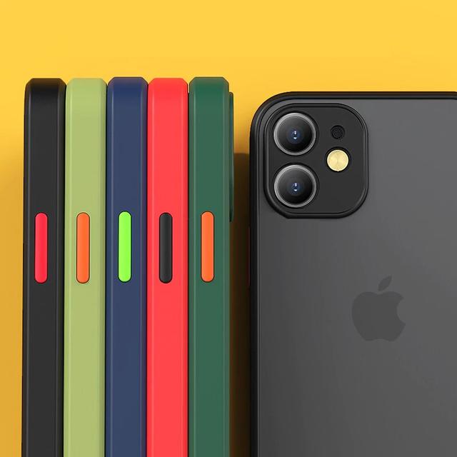 Side color mat iphone case