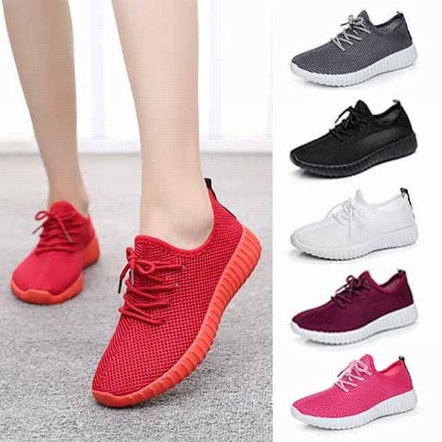 【Qiu Yuxuan】メッシュ フライニット ランニング シューズ / Net shoes flat casual sports shoes (DCT-549643426459_d)
