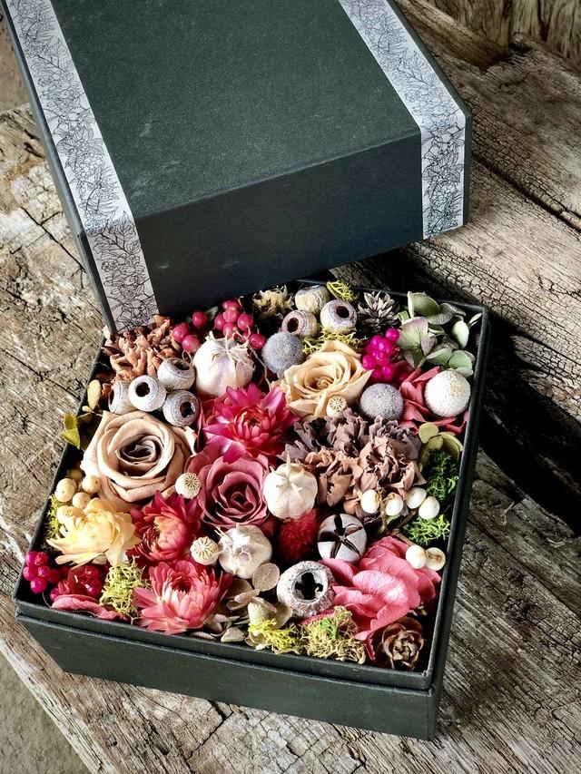 PINK BOX FLOWER /プリザーブドフラワー