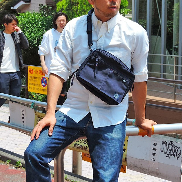 Porter Classic×muatsu NEWTON Shoulder Bag ネイビー [PC-050-955]