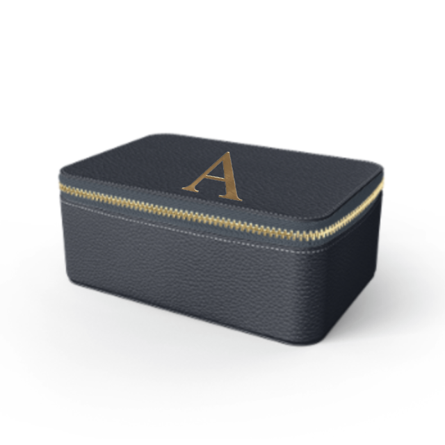 Box Premium Shrink Leather Case (Navy)