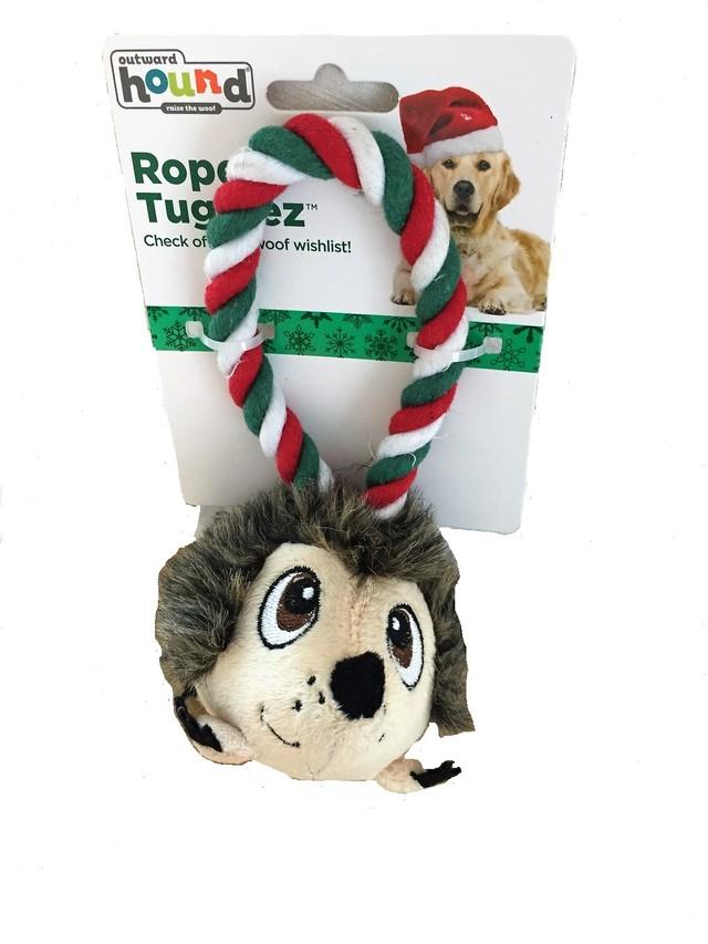 outward hound (アウトワード・ハウンド) ホリデー・ロープ・タギーズ/ヘッジホッグ 音 引っ張る 投げる クリスマスおもちゃ ギフト プレゼント