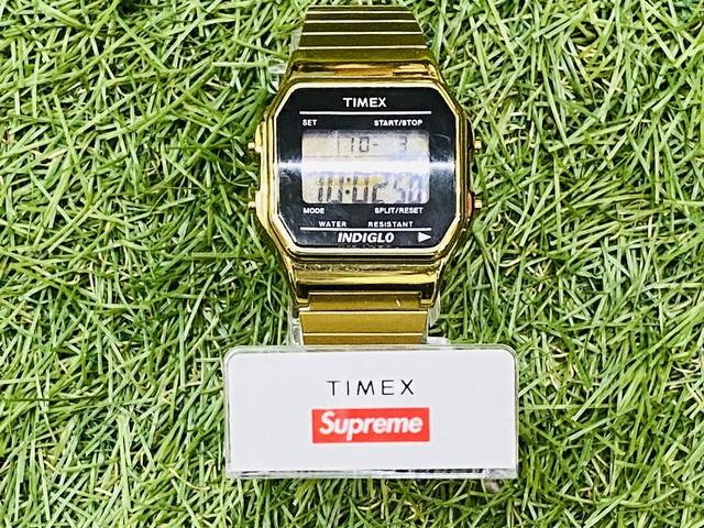 SUPREME x TIMEX DIGITAL WATCH GOLD 125JI9083