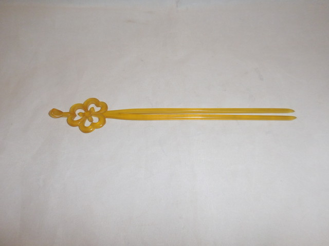 扇型鼈甲簪 tortoiseshell work ornamental hair pin(No1)