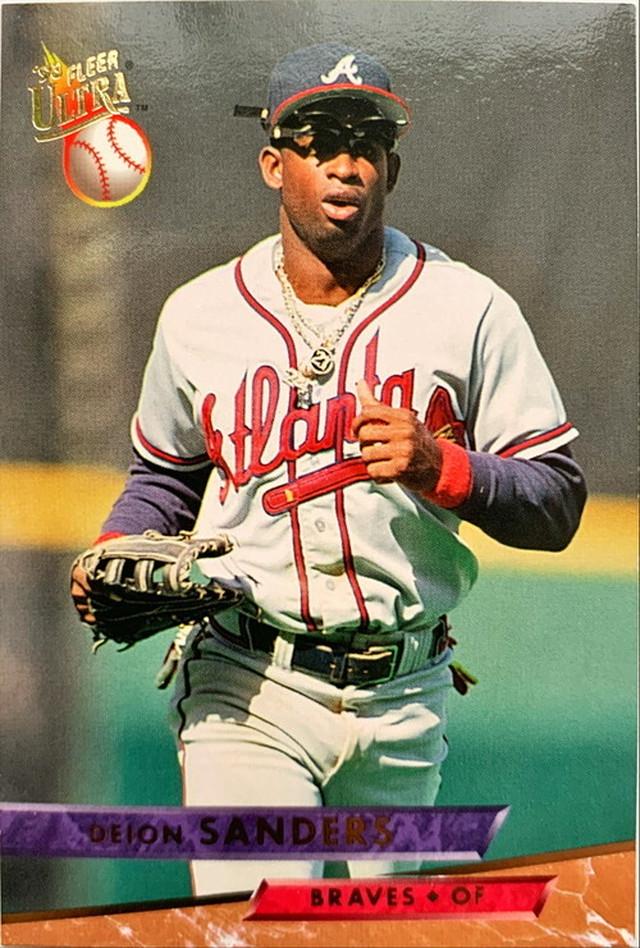 MLBカード 93FLEER Deion Sanders #012 BRAVES