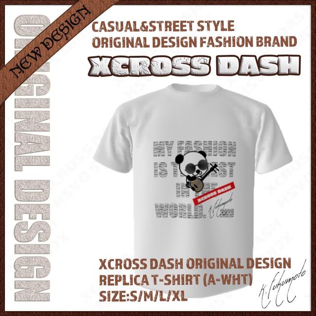XCROSS DASH 2020 REPLICA T-SHIRT (A-WHT) レプリカデザインTシャツ