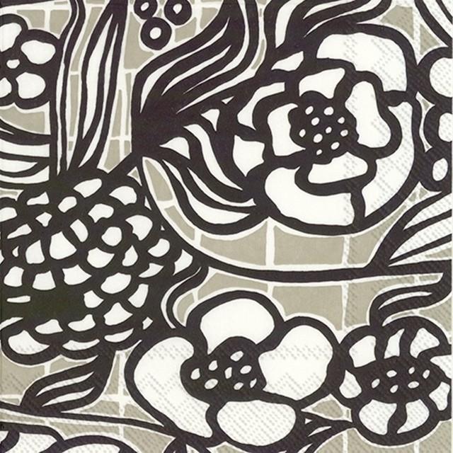 2020秋冬新作【marimekko】バラ売り2枚 カクテルサイズ ペーパーナプキン FLORISTI リネン