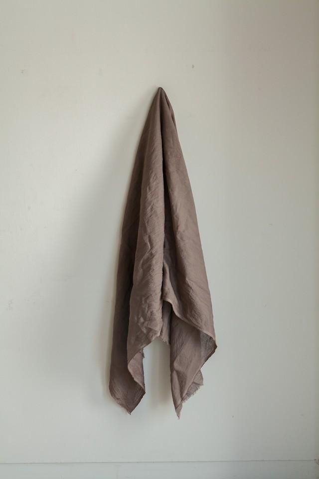 0142-2 80 linen stole 天然染 / 泥