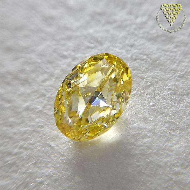 0.521 ct Fancy Vivid Yellow I1 CGL 天然 イエロー ダイヤモンド ルース オーバル / OVAL シェイプ