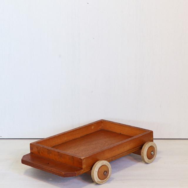 【R-212】ヴィンテージ 積み木台車