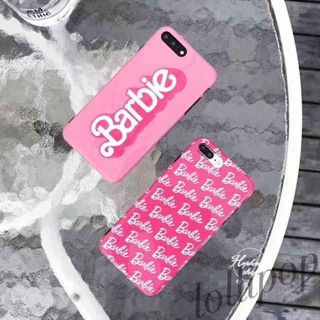 送料無料★バービーロゴ ピンク iPhoneケース/シリコンケース