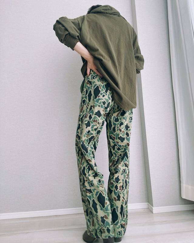 (PT036)Camouflage baker pants