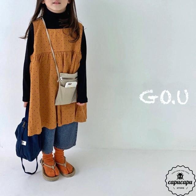 «予約» go.u dot one-piece 2colors ワンピース
