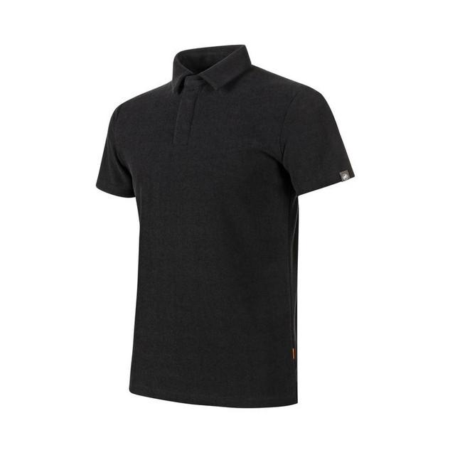 【MAMMUT】Frottee Polo Shirt AF Men:black