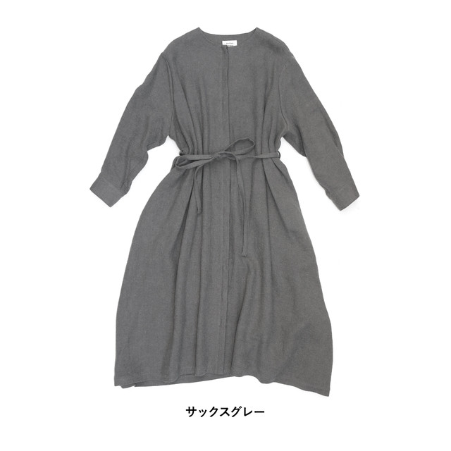 atelier naruse Wool flax viyella coat one-piece